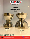 Coffee Tamper Almaz Stainless Steel Up 51mm Down 58mm Dual Function
